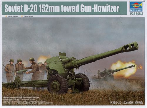 Trumpeter 1/35 Soviet D-20 152mm towed Gun-Howitzer # 02333