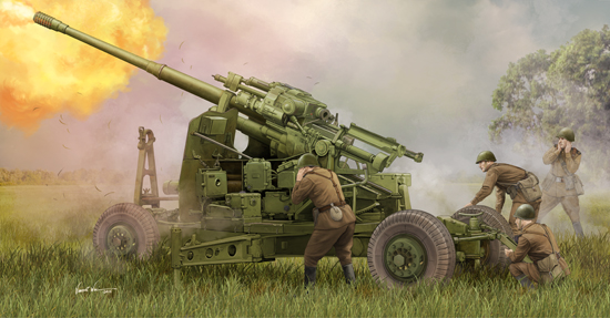 Trumpeter 1/35 Soviet 100mm Air Defense Gun KS-19M2 # 02349