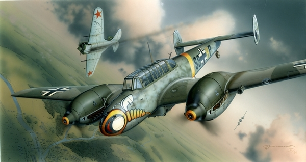 Eduard 1\48 Bf 110E German WWII Heavy Fighter № 8203