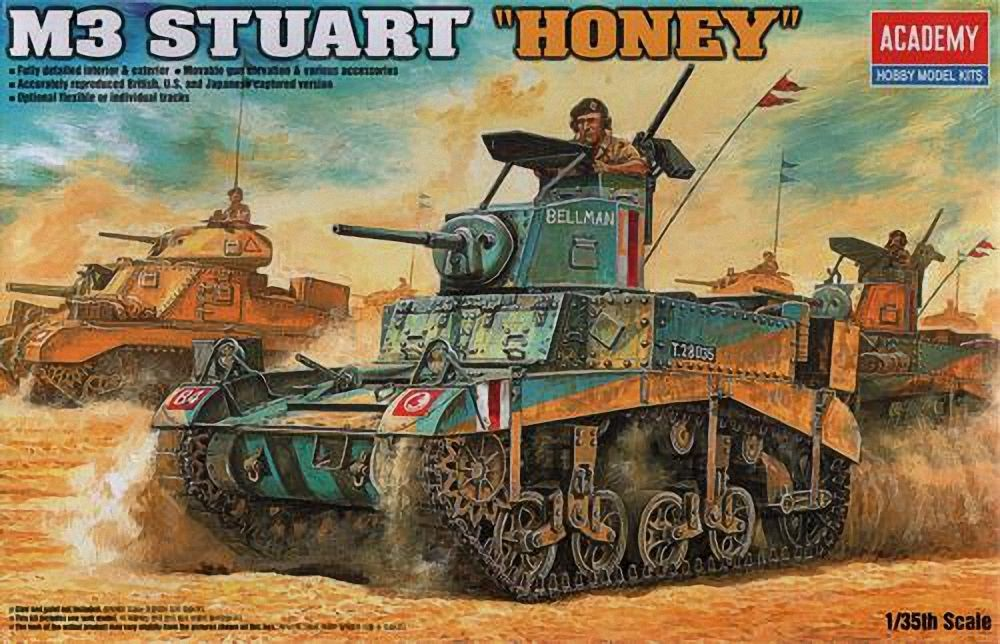 Academy 1\\35  BRITISH M3 STUART HONEY # 01399