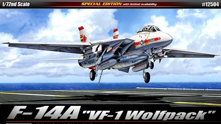 "Academy 1/72 F-14A ""VF-1 WOLF PACK"" # 12504"