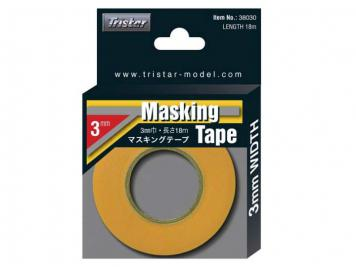 TRISTAR Masking Tape, 3.0 mm x 18m/roll # 38030