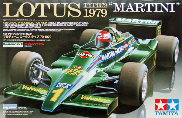 Tamiy 1/20 Grand Prix Lotus Type 79 1979 Martini # 20061