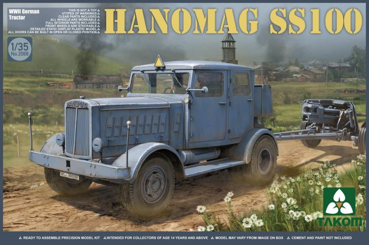 Takom 1/35 Hanomag SS100 WWII German Tractor # 2068