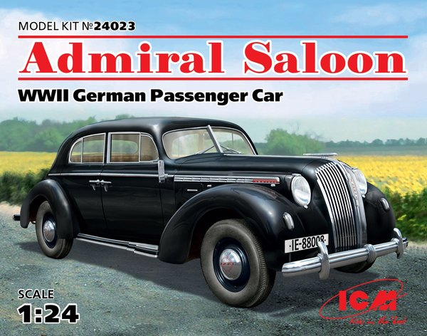 ICM 1/24 Admiral Saloon (WWII German Passenger Car) # 24023