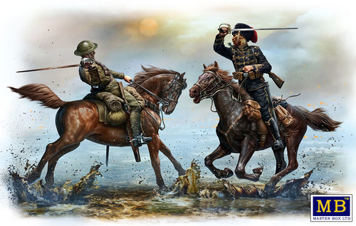 Master Box 1/35 British and German Cavalrymen, WWI era # 35184