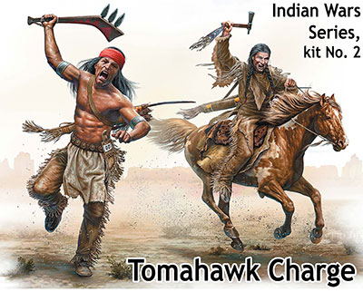 Master Box 1/35 Indian Wars Series, kit No. 2. Tomahawk Charge # 35192