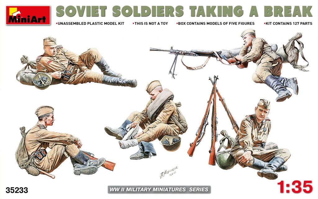 MiniArt 1\35 Soviet Soldiers Taking a Break # 35233