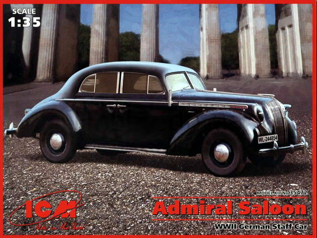 ICM 1/35 Admiral Saloon WWII German Staff Car # 35472