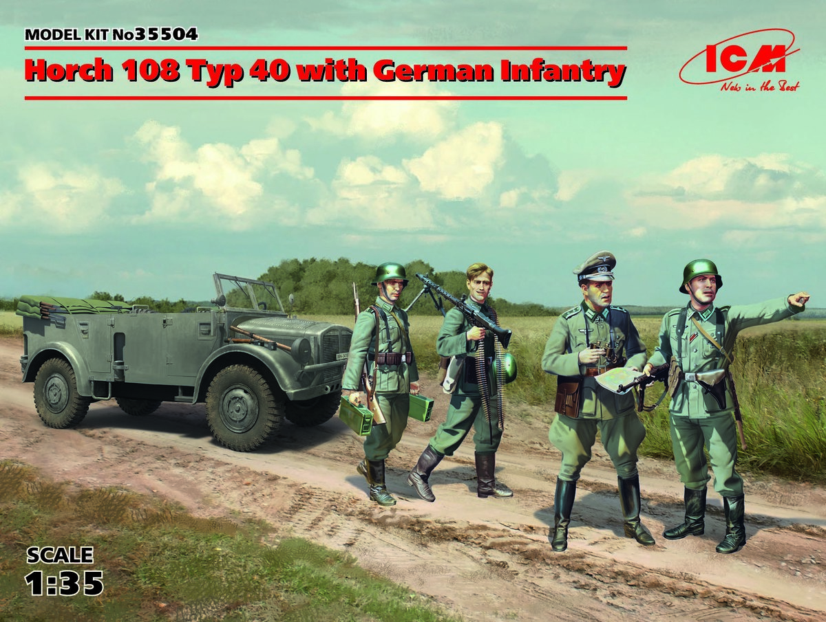 ICM 1/35 Horch 108 Typ 40 with German Infantry # 35504