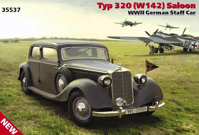 ICM 1/35 Typ 320 (W142) Saloon WWII German Staff Car # 35537