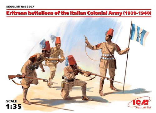ICM 1/35 Eritrean battalions of the Italian Colonial Army (1939-1940) (4 figures) # 35567