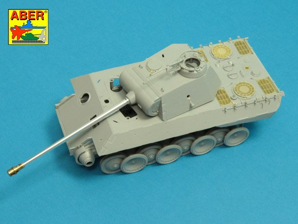 Aber 1/35 7,5 cm  barrel  with muzzle brake for Panther Ausf.A/D # 35L245