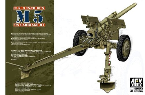 AFV Club 1/35 US 3 Inch Gun M5 on Carriage M1 # 35S64