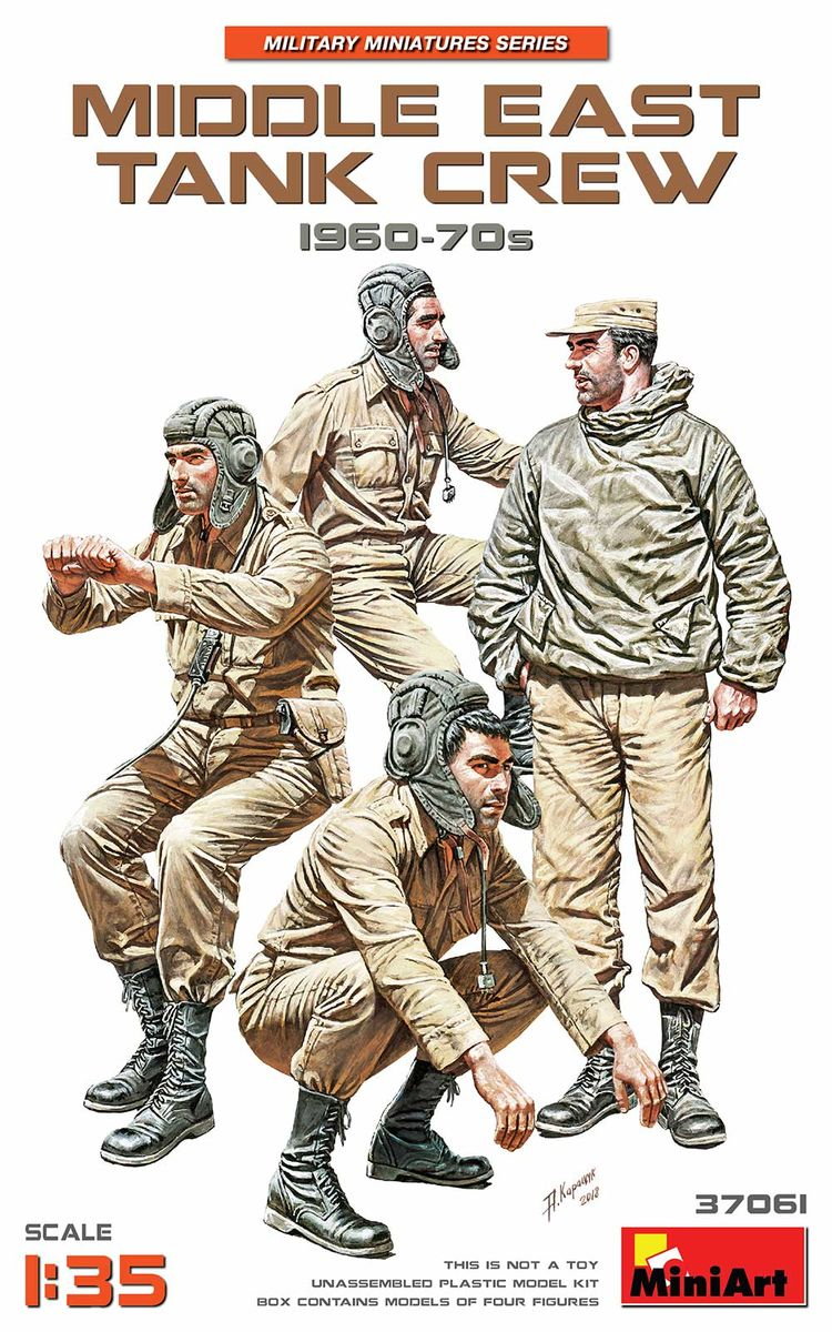 MiniArt 1\35 Middle East Tank Crew 1960-70s # 37061