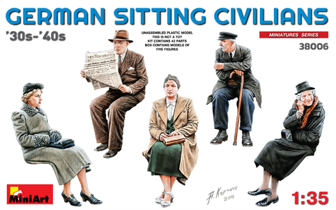 MiniArt 1/35 German Sitting Civilians 30-40's # 38006