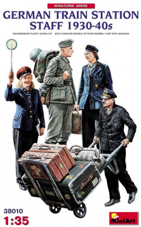 MiniArt 1/35 German Train Station Staff 1930-40s # 38010