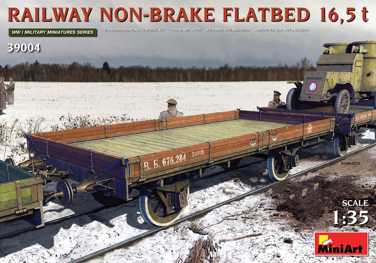 MiniArt 1\35 Railway non-brake Flatbed 16,5t # 3904