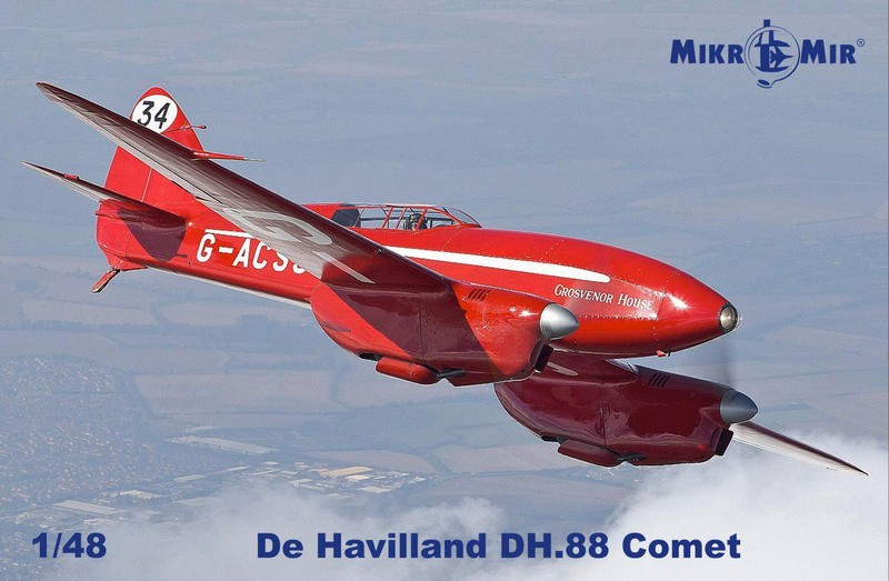 MIKROMIR 1\\48 Самолет de Havilland DH.88 Comet № 48017
