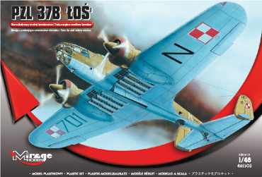 "Mirage-Hobby 1/48 Polish medium-bomber PZL 37B ""ŁOŚ"" # 481302"