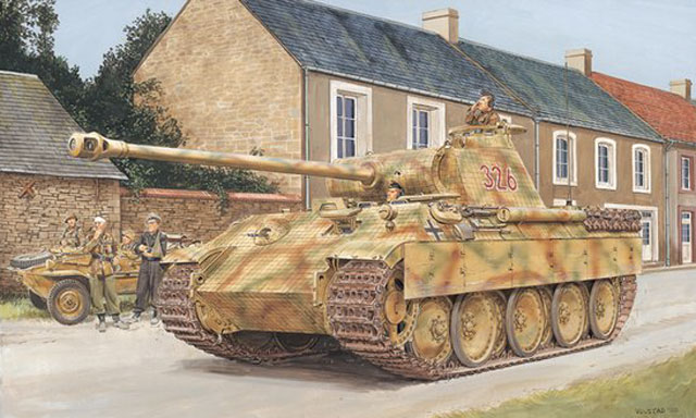 Dragon 1/35 Sd.Kfz. 171 Panther A Late Type Normandy 1944 # 6168