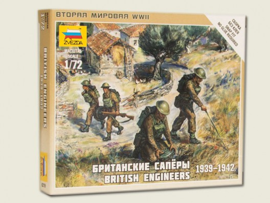 Zvezda 1/72 British Military Engineer Corps WWII # 6219