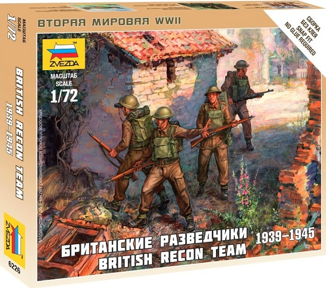 Zvezda 1/72 British Recon Team # 6226