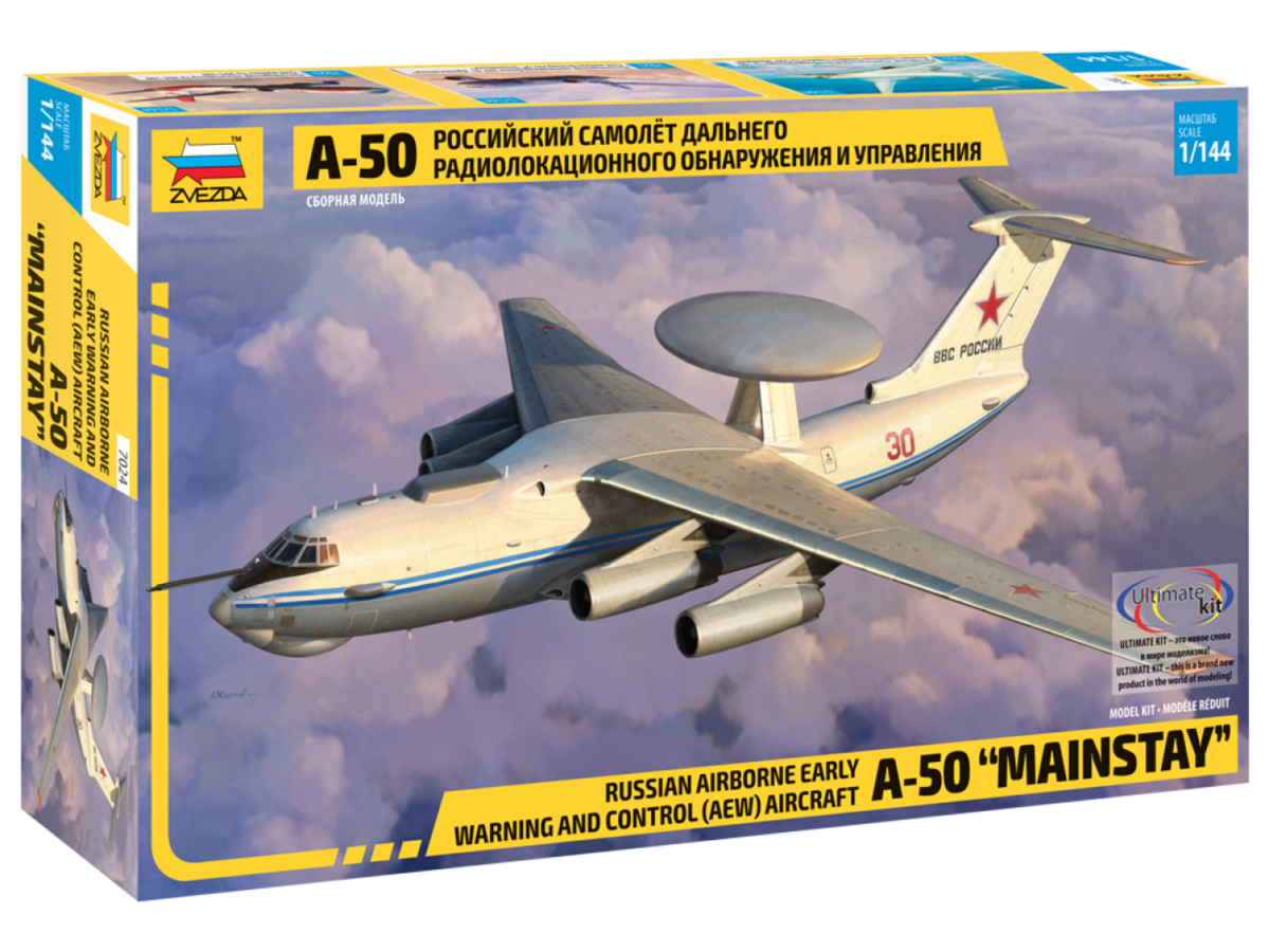 "Zvezda 1/144 Russian Airborne Early Warning and Control (AEW) Aircraft A-50 ""Mainstay"" # 7024"
