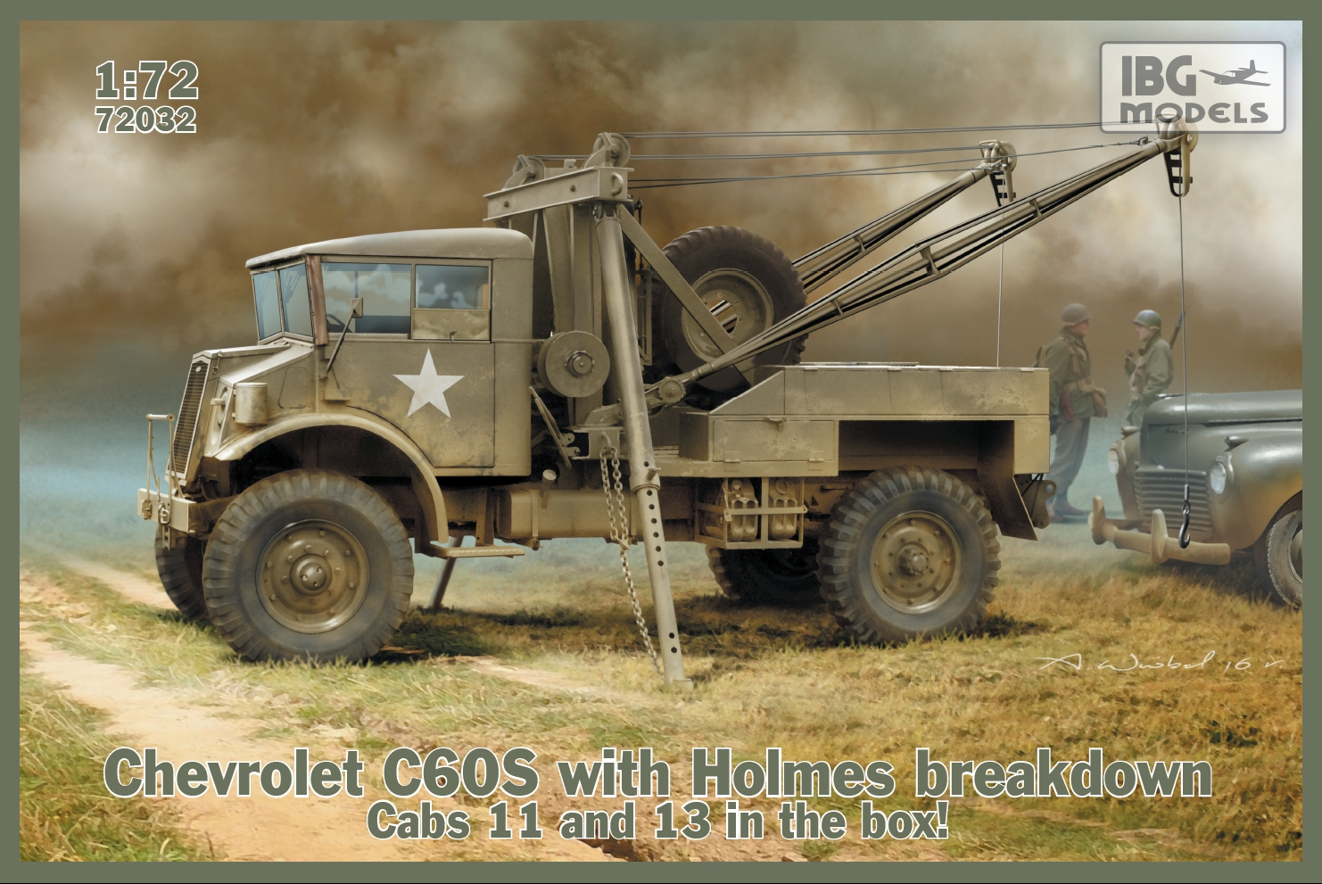 IBG 1/72 Chevrolet C60S with Holmes breakdown # 72032