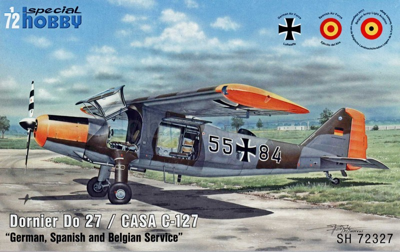 "SPECIAL HOBBY 1\72 Самолет Dornier Do 27 ""German, Spanish and Belgian Service"" # 72327"
