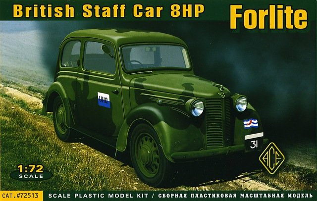 Ace 1/72 British Staff Car 8HP Forlite Saloon mod.1939 # 72513