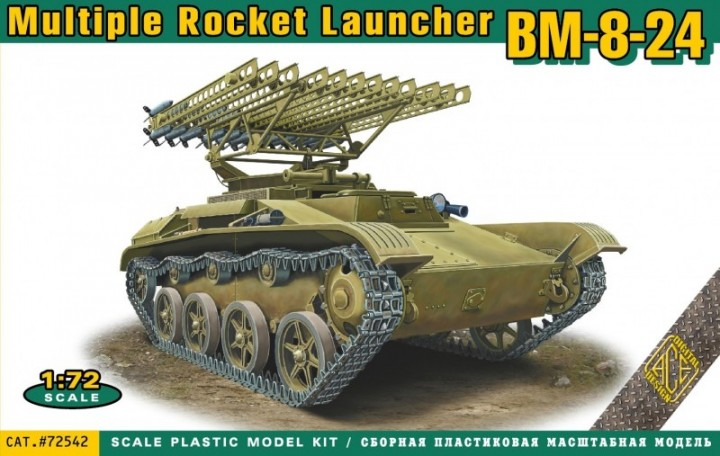 ACE 1/72 BM-8-24 multiple rocket launcher # 72542
