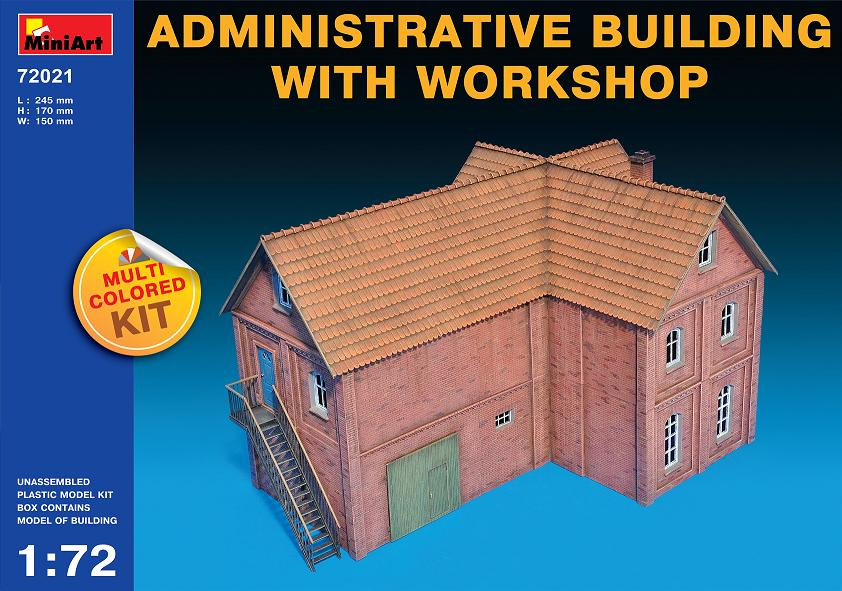 MiniArt 1/72 Administrative Building With Workshop # 72021