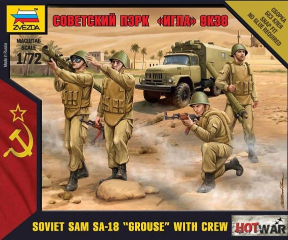 Zvezda 1/72 Soviet SAM 9K38 IGLA - SA-18 GROUSE with crew # 7412