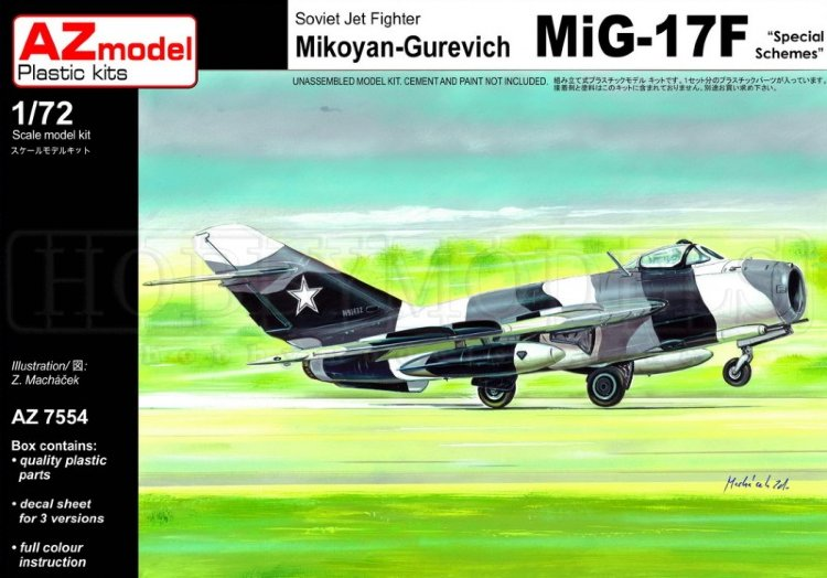 AZ model 1/72 MiG-17F Sp. Services # 7554