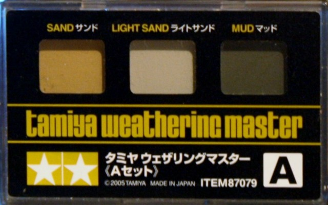 Tamiya Weathering Master Set A Sand, Light Sand & Mud # 87079