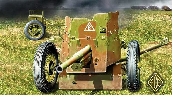 ACE 1/72 Soviet 45mm Anti-Tank gun # ACE72242