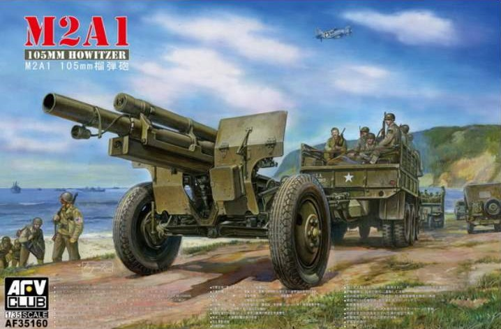 AFV Club 1/35 M2A1 105mm Howitzer on M2 Carriage # 35160