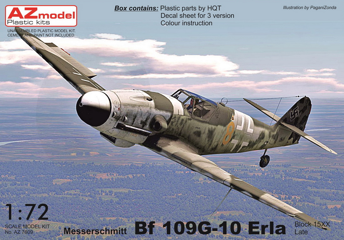 "AZ model 1\72 Messerschmitt Bf-109G-10 ""Erla Late"" (block 15XX) # 7611"