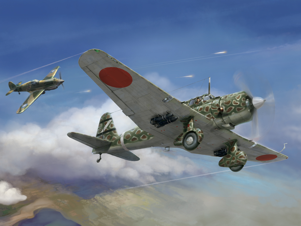 "Wingsy Kits 1/48 IJA Type 99 army assault plane Ki-51 ""Sonia"" # D05-04"