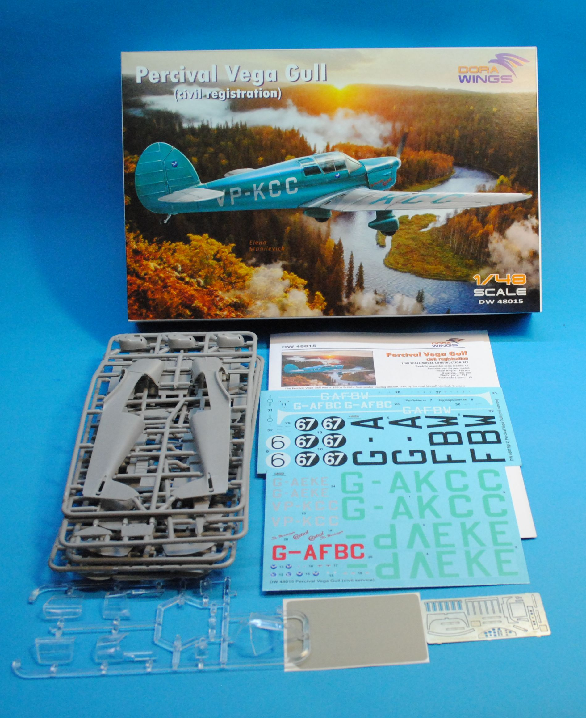 Dora Wings 1/48 Percival Vega Gull (civil registration) # 48015
