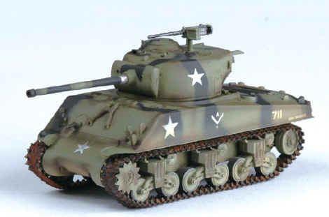 EASY MODEL 1/72 US ARMY M4A3(76)W SHERMAN TANK, 714TH TANK BATTALION, 12TH DIVISION # 36261