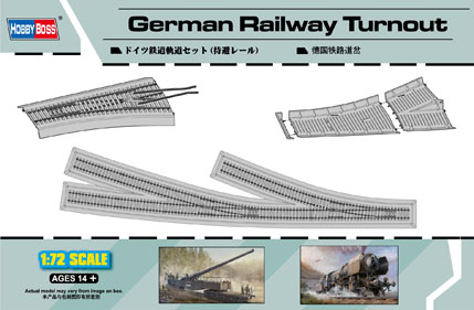 HobbyBoss 1/72 German Railway Turnout # 82909