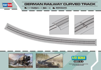 HobbyBoss 1/72 German Curved Railway Track # 82910