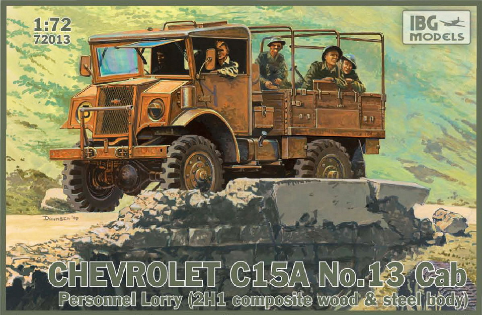 IBG model 1/72 Chevrolet C15A No.13 Cab Personnel Lorry (2H1 Composite wood & steel body) # 72013