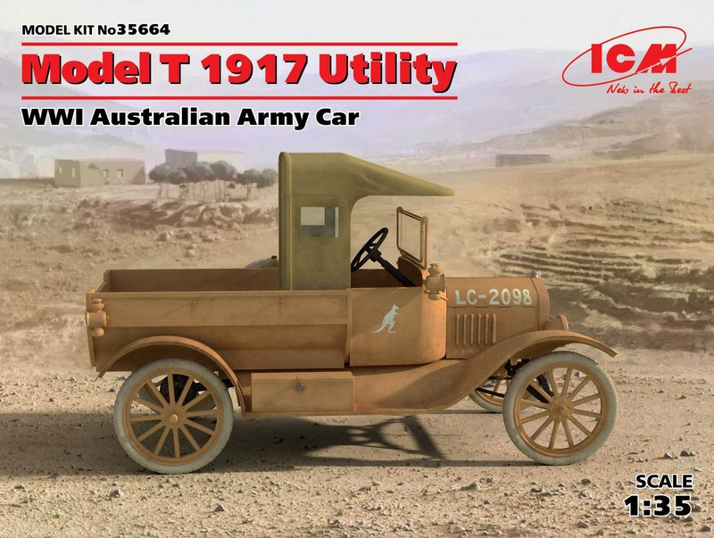 ICM 1/35 Ford Model T 1917 Utility # 35664