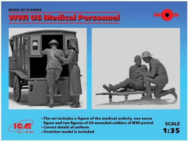 ICM 1/35 WWI US Medical Personnel # 35694