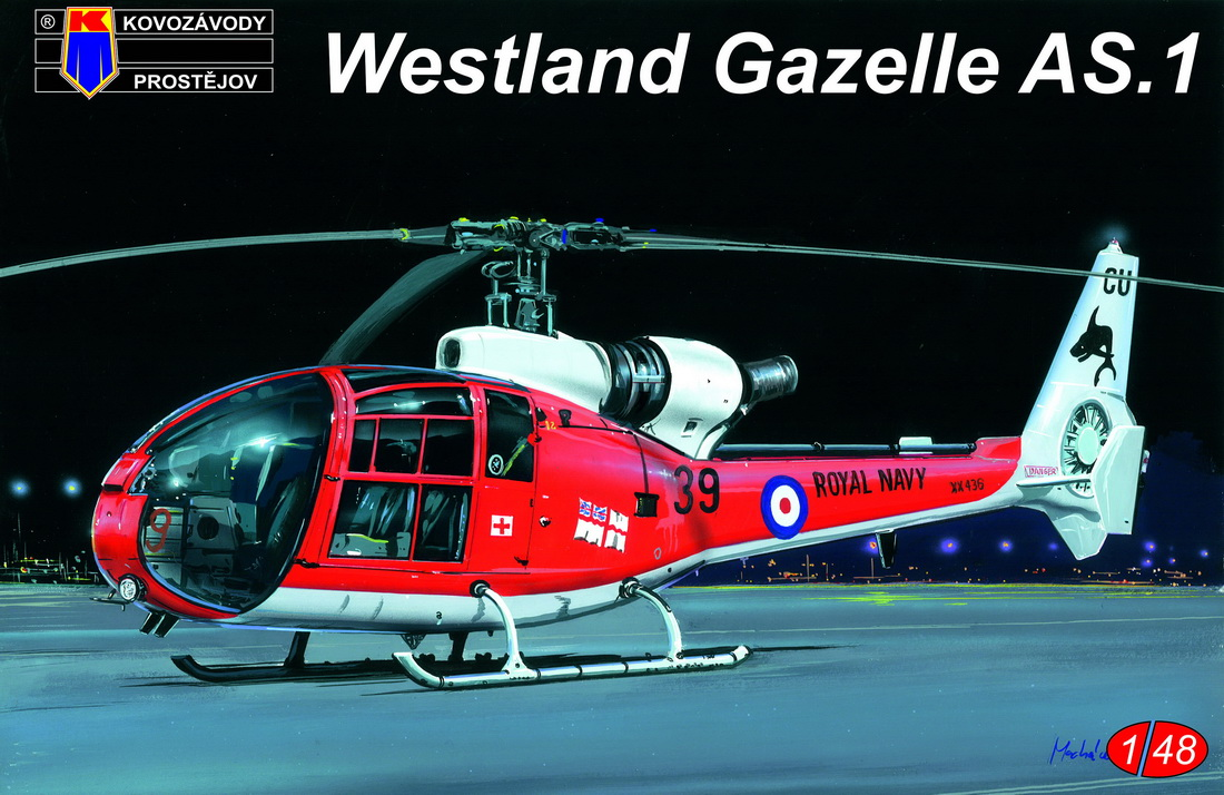 KP 1\48 Westland Gazelle AS.1 Royal Navy (ex-Heller) # 4812