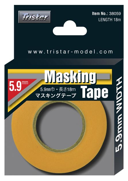 Tristar Masking Tape, 5.9mm x 18m/ Roll # 38059