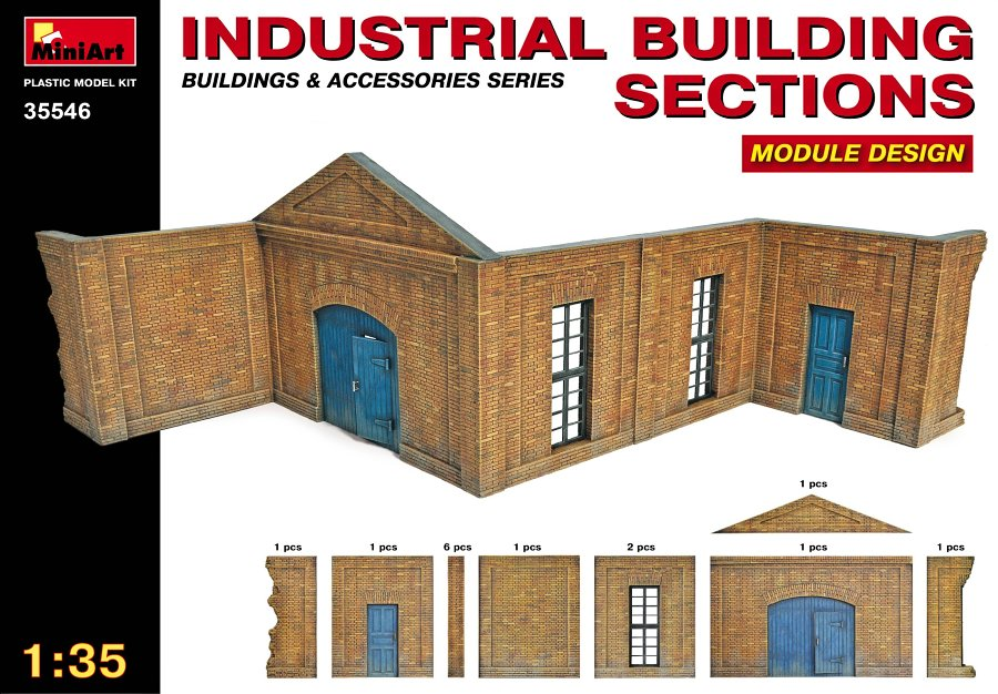 MiniArt 1/35 Industrial Building Sections # 35546